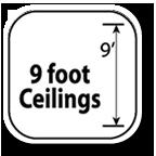 9 foot ceilings & 7 foot doors